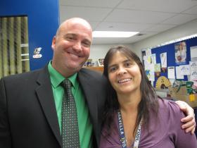 Shawn Cerra, principal of J.P. Taravela High School in Coral Springs, with the school's guidance director, Jody Gaver in 2012.