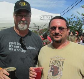 Scott Rain, left, and Jeff Davis are two of South Florida's true craft-beer fanatics.
