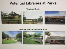 Tamiami Park and Norman and Jean Reach Park are potential spaces for libraries to move into.