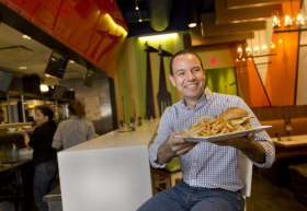 Fast Casual: Joao Barbosa at a South Florida Giraffas.