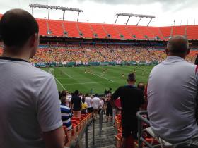 English fans look on during Wednesday's friendly against Ecuador. The final score was 2-2.