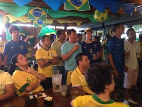Yellow-and-Green Fever: Brazilian World Cup fans at Boteco in Miami.
