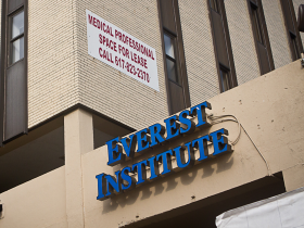 An Everest Institute campus in Boston. Parent company Corinthian Colleges is closing Massachusetts campuses, but selling Florida campuses.