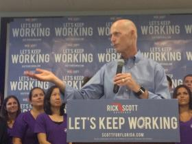 Gov. Rick Scott stopped in Boca Raton on July 21 to talk about his ideas for encouraging more students into science, technology, engineering and math jobs.