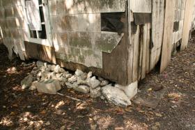 One of the major problems with the house on Whitehead Street is the unsecured foundation.