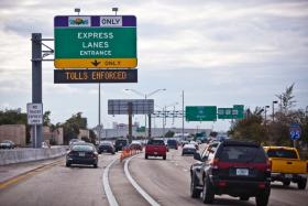 Florida's future highway: express lanes but no free rides.