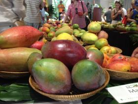 Some mangos on display at the auction during the International Mango Festival.