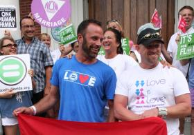 The case of plaintiffs Aaron Huntsman and William Lee Jones was the first to get a favorable ruling against Florida's ban on same-sex marriage.