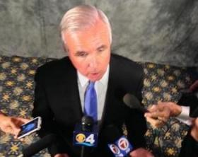Mayor Carlos Gimenez answers questions after his State of the County address in February.