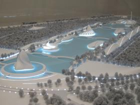 A model of the future campus of Florida Polytechnic University.
