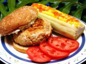 Salmon Burgers with Hot Pepper Corn