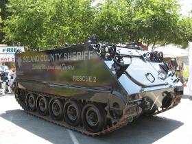 Military tanks like this have been issued to U.S. police departments.