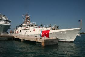 The U.S. Coast Guard Cutter Raymond Evans, to be commissioned Sept. 6, is one of six new Sentinel-class cutters that will be homeported in Key West.