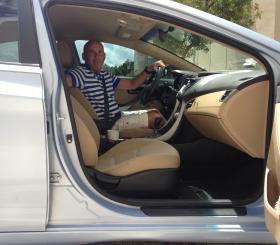 Driving coach Chris Pearson.