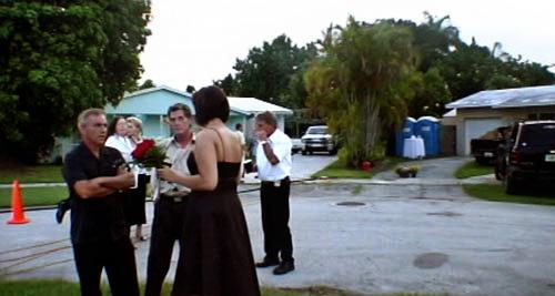 Screen grab of Cusano wedding video.
