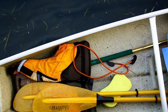 Terence Cantarella's canoe