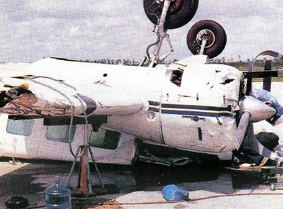 Manny Alen's plane after Hurricane Andrew.