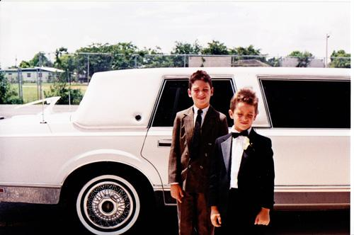 Danny Rivero and his brother, Alexis, at their uncle's wedding the day before Hurricane Andrew. They were furious about having to wear tuxedoes. Danny was the ring-bearer.