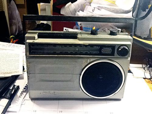 The radio Geoffrey Philp inherited from his mother.
