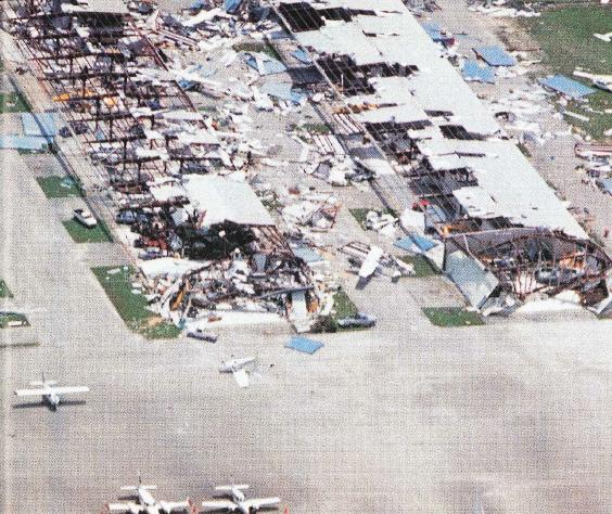 Tamiami Airport after Hurricane Andrew