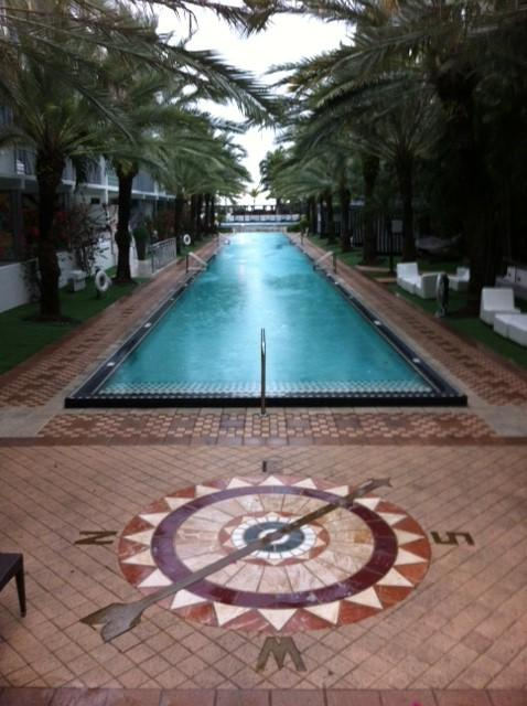 The pool at the National Hotel in Miami Beach