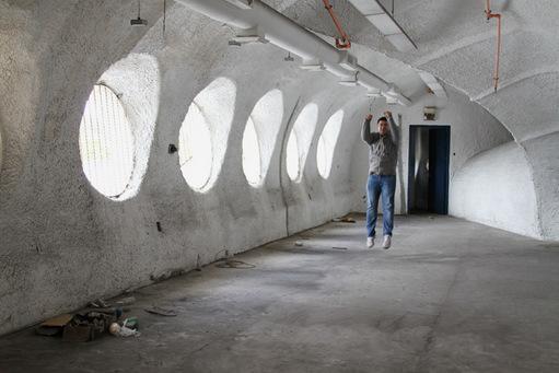 Michael Alen inside the AmerTec building