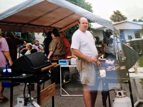 The cul-de-sac barbecue on the fifith anniversary of Hurricane Andrew.