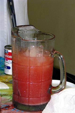 Louis used fresh squeezed grapefruit (seen here) to make Haitian juice, but you can use any citrus.
