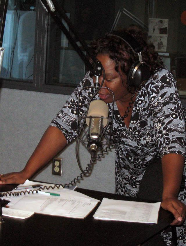 Queen Brown often discusses youth violence on her radio show.