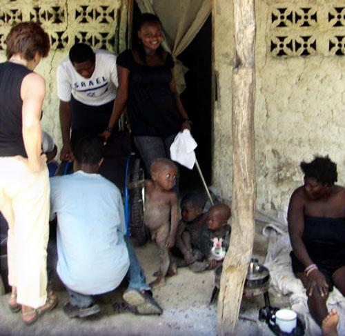 """Carmen Maria Romero's team in Haiti: """"My goal was to train as many persons with disabilities, caregivers, and villagers as I could."""""""