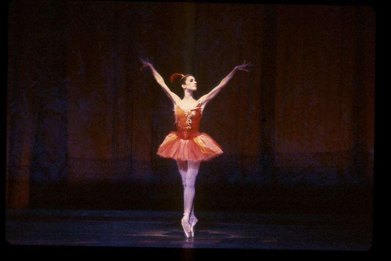 Lourdes Lopez performing in the ballet 'Firebird.'