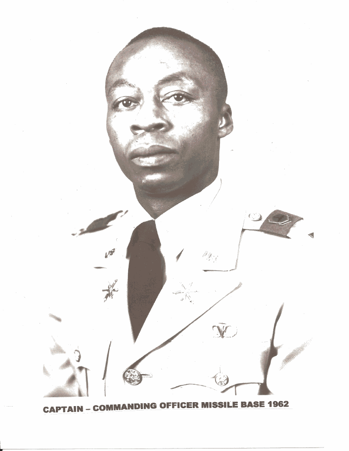Henry Mack as he appeared as Army commander of Nike Hercules Missile Base in 1962