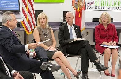 Governor Scott hears from teachers at Southwest Miami High.