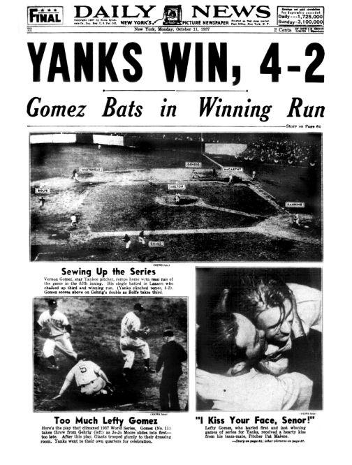 Daily News: Yanks win.