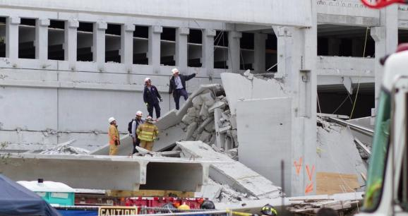 The garage collapse at Miami Dade College's West Campus happened a week ago.