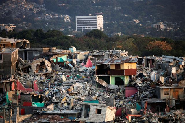 In Haiti, after the January 2010 earthquake.