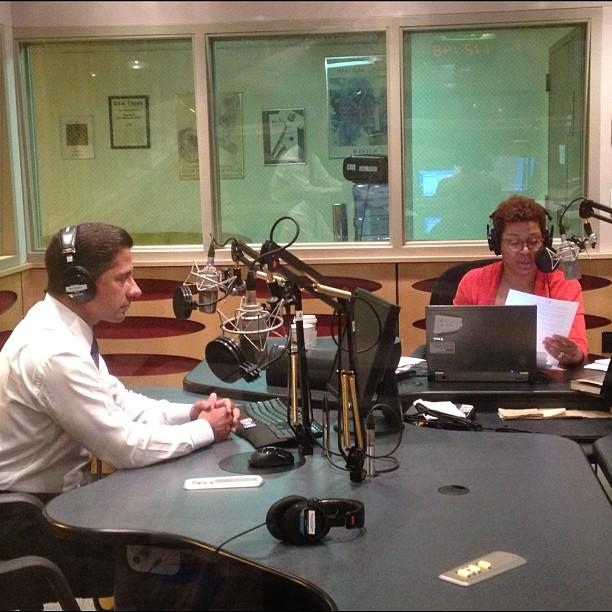 Miami-Dade County Public Schools superintendent Alberto Carvalho and Tell Me More host Michelle Martin