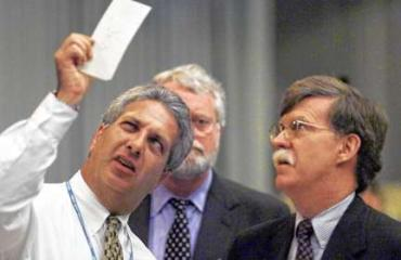 2000: Lawyers and elections workers spent days squinting at Palm Beach County ballots, trying to determine who had voted for whom.