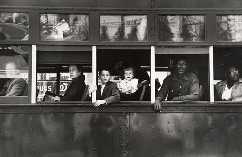 Robert Frank (American, b. Switzerland, 1924) Trolley—New Orleans, 1955/
