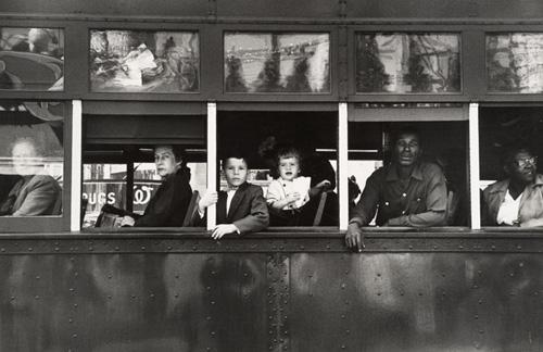 Robert Frank (American, b. Switzerland, 1924) Trolley—New Orleans, 1955/