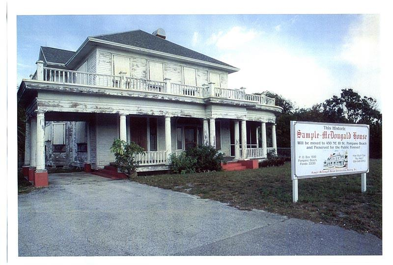 The Sample-McDougald House prior to it being moved to its current location, 2001.
