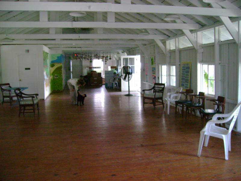 Originally there were four barracks like this one, each housing 64 men. The floors are made of original Dade County Pine. The building is now used as a classroom for marine science camps.
