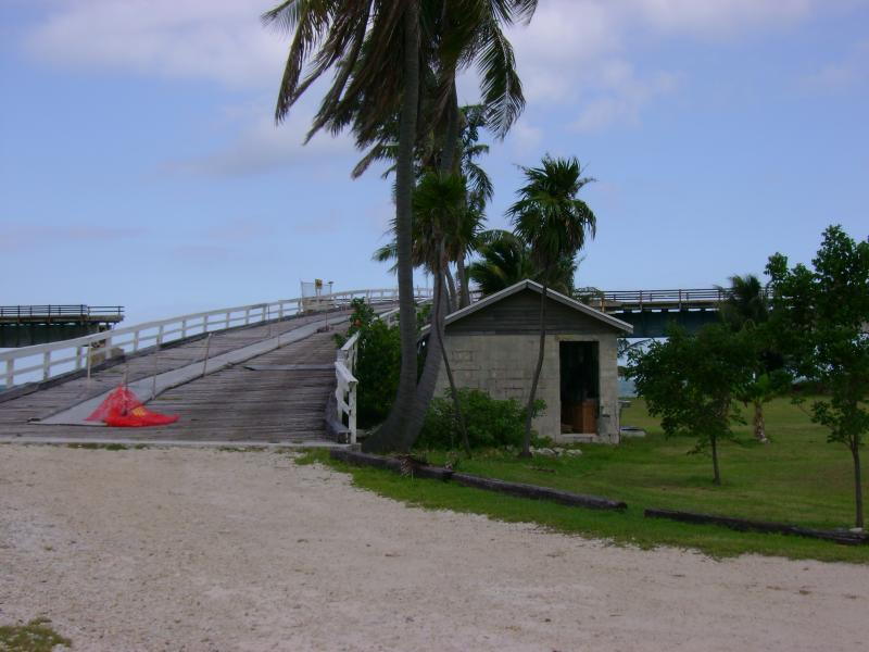 After walking 2 miles over the Old Seven Mile Bridge, you take this ramp down onto Pigeon Key. There are 8 historic buildings on the key, one of which you can stay in.