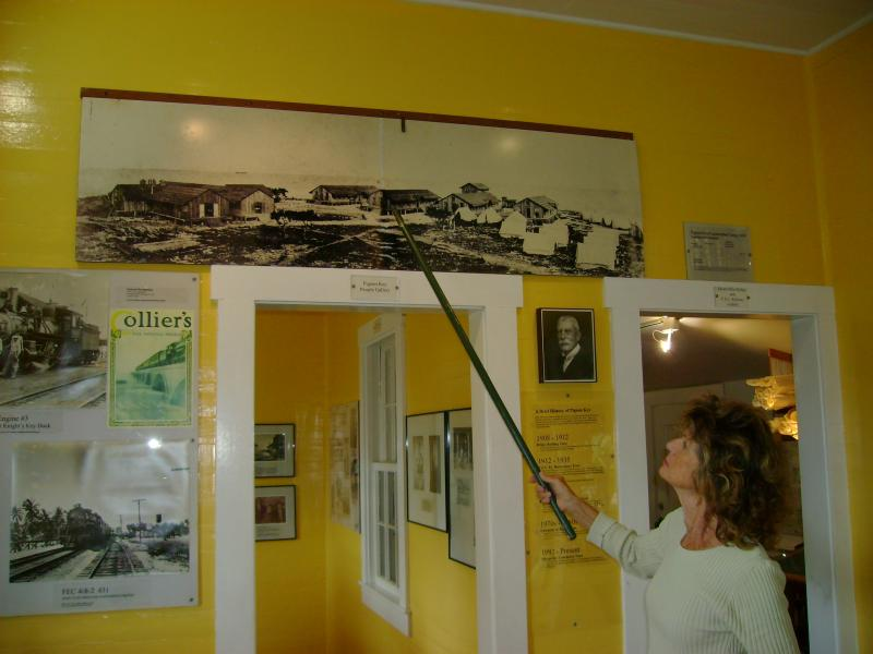 Inside the museum are old photos, artifacts and diagrams explaining how the bridge was constructed.