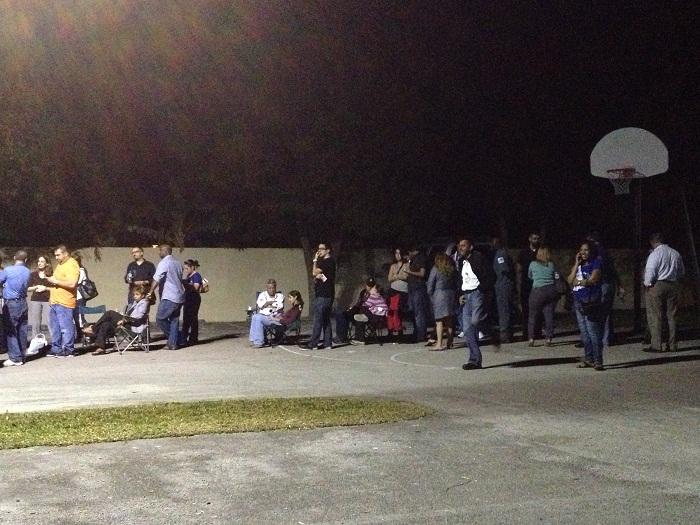 Just a piece of the election night line at South Kendall Community Church in Countrywalk. At least 1,000 were in line at closing time at the location, where voting didn't finish until early Wednesday, when the presidential election was already called.