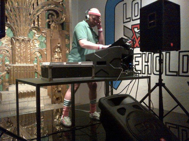 DJ at the Wolfsonian Museum in short shorts