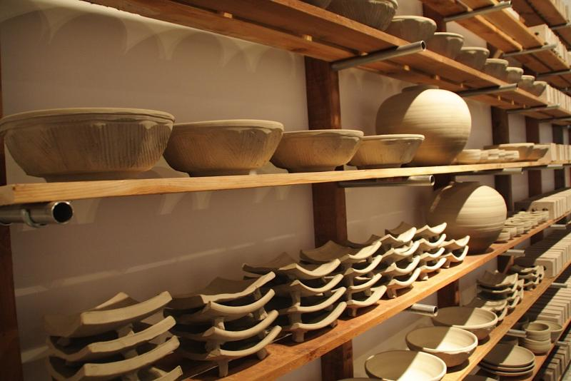 The artist's view: making things like these clay bowls is a 'very human, very spiritual act.'