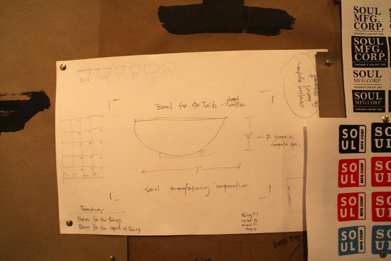 Detailed model for creating a bowl to hold ox tails.