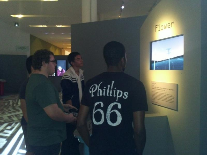 20-year-old Jean Lapaix and his friends visited the Art of Video Games exhibit at the Boca Raton Museum of Art.