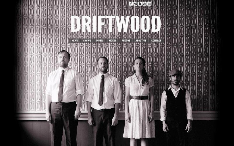 DRIFTWOOD (cool wesbite shot)
